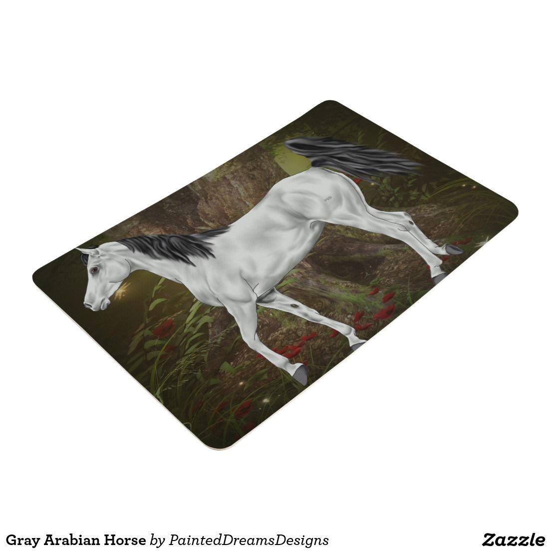 Gray Arabian Horse Floor Mat Zazzle Com Horse Floor Mats Arabian Horse Horses