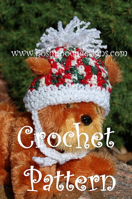 4cbeb29542e Ravelry  Christmas Sparkle Dog Hat Beanie pattern by Sara Sach