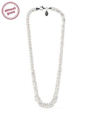 Italien .925 Sterling Silver Pearl Bangle Bracelet 14K Blanc Plaqué Or