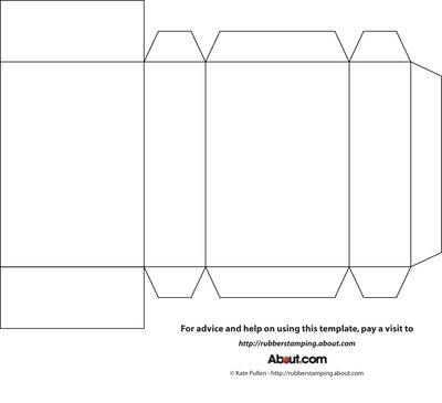This is an image of Printable Box Template for rectangle