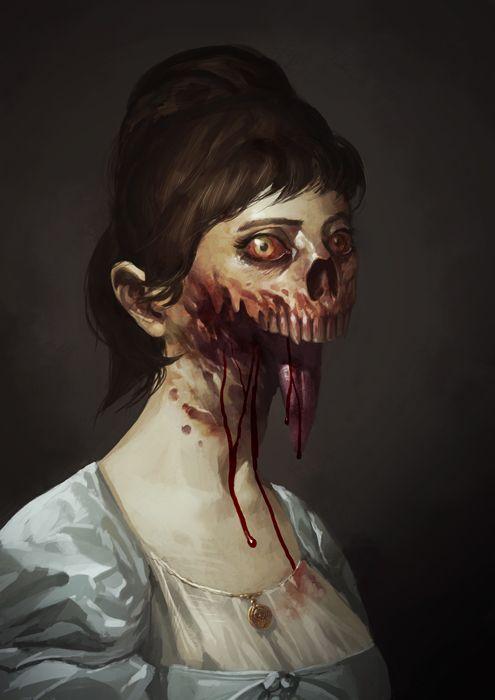 Zombie Portrait by MaxGrecke.deviantart.com on @deviantART