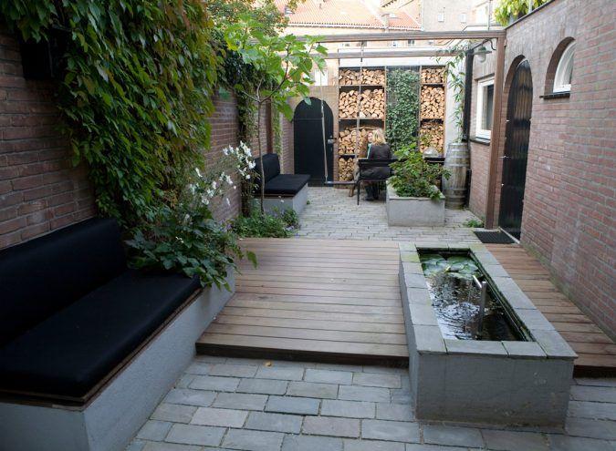 Renovatie Smalle Tuin : Ontwerp voor een kleine smalle tuin op het noorden garden