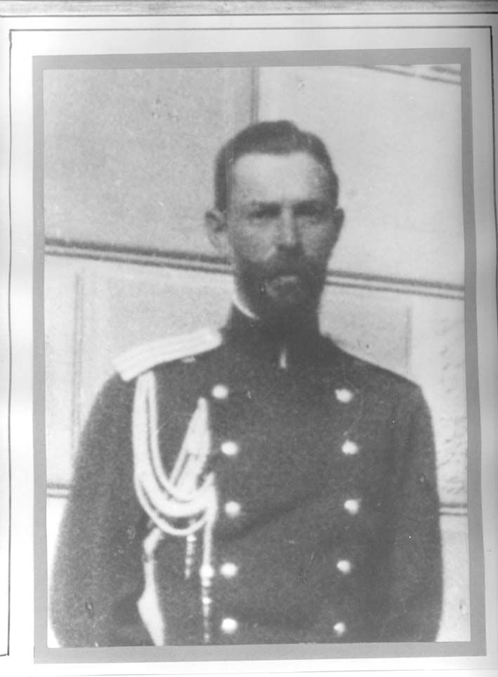 A young Gen. Tatishchev Ilya Leonidovich (1859-1918) ADC. After the departure of Nicholas II, Alexandra Fyodorovna and Maria from Tobolsk, Olga left his care with Tatiana and Alexei _BM #romanov