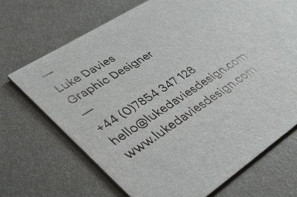 Business Card Minimal Luke Davies Personal Brand Indeny
