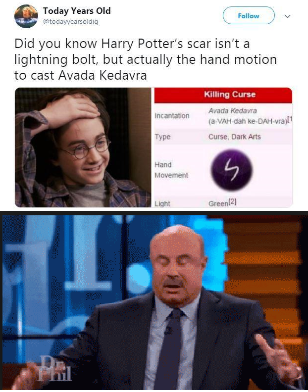 Today S 25 Most Hilarious Memes We Learn Something New Everyday Read It Harry Potter Funny Harry Potter Jokes Harry Potter Scar