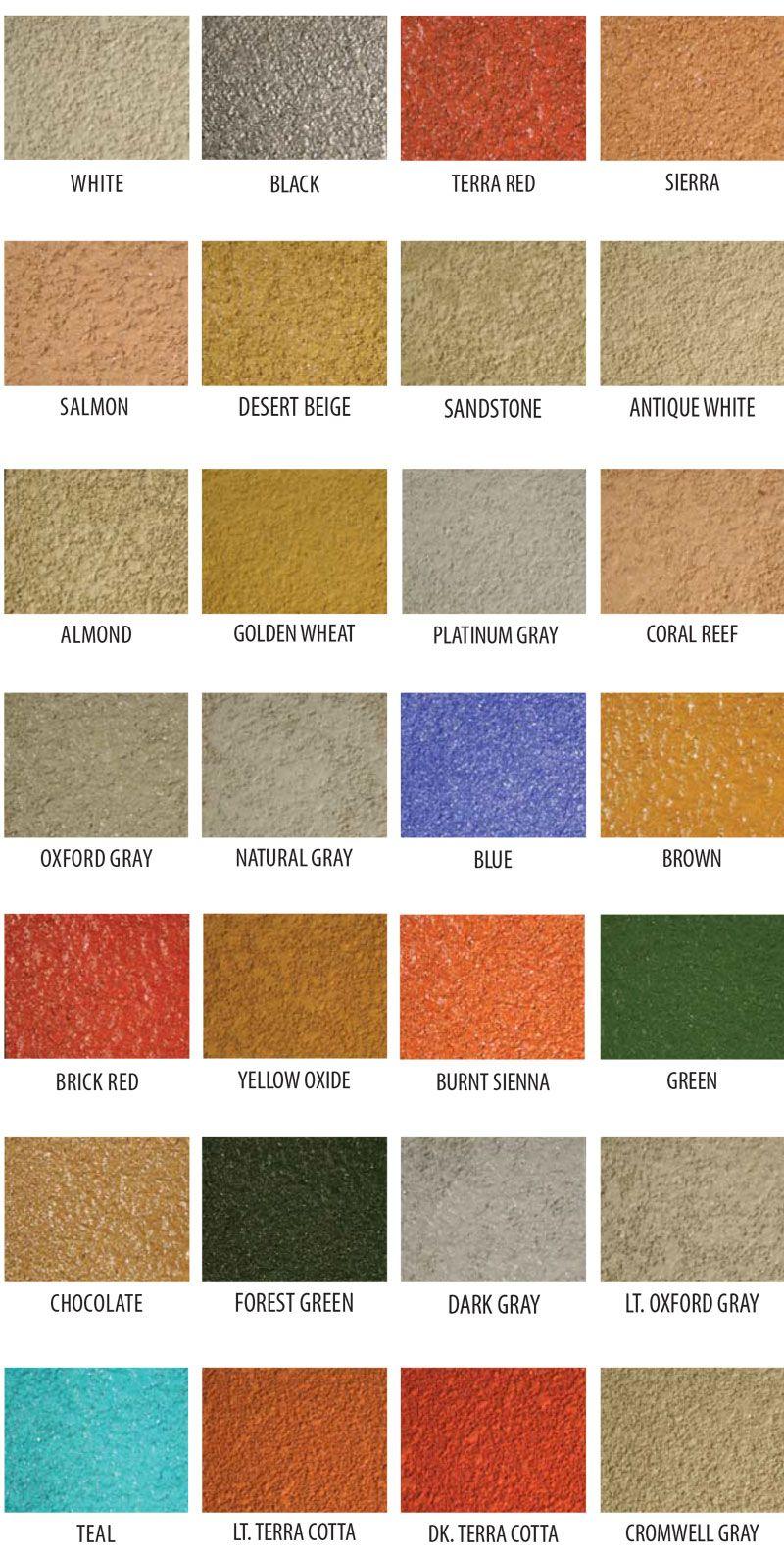 Cti Acrylistain Color Chart Stained Concrete Brown Brick Platinum Grey