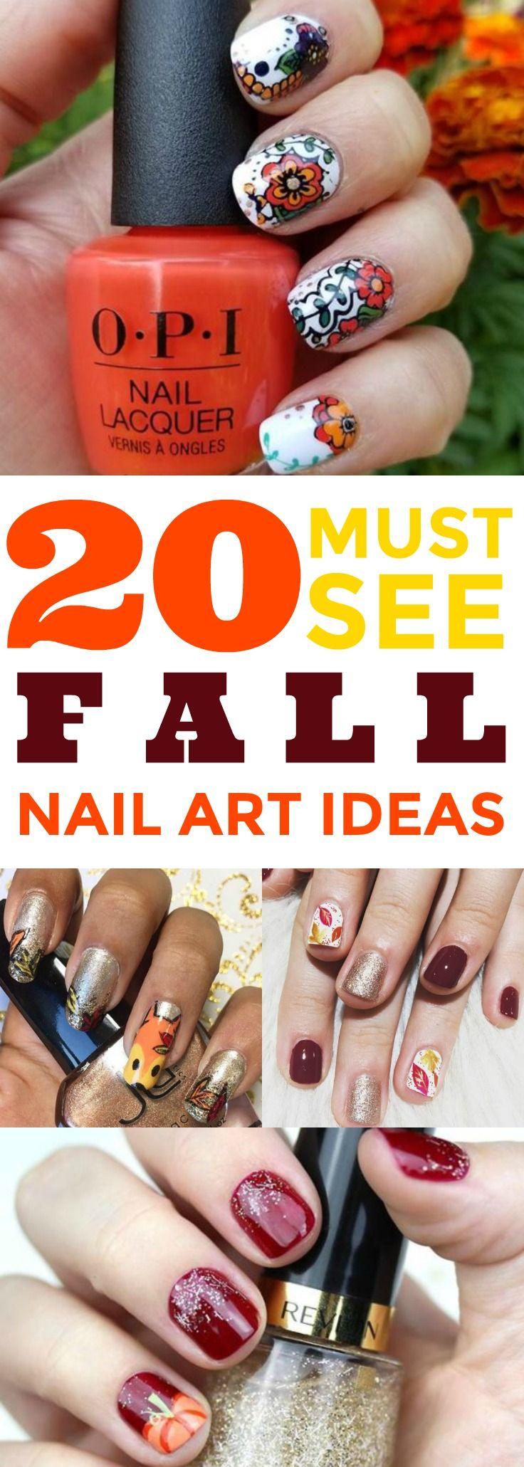 20 fall nail art ideas you will love | autumn nails, beauty nails
