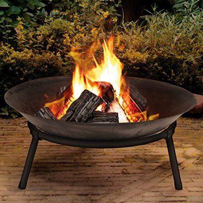 Cast Iron Garden Fire Pit Basket Patio Heater Log Wood Charcoal