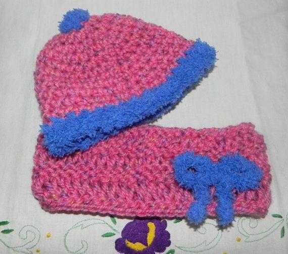 Scaldacollo e cappellino bambina misto lana di Ciuppinociuppinino