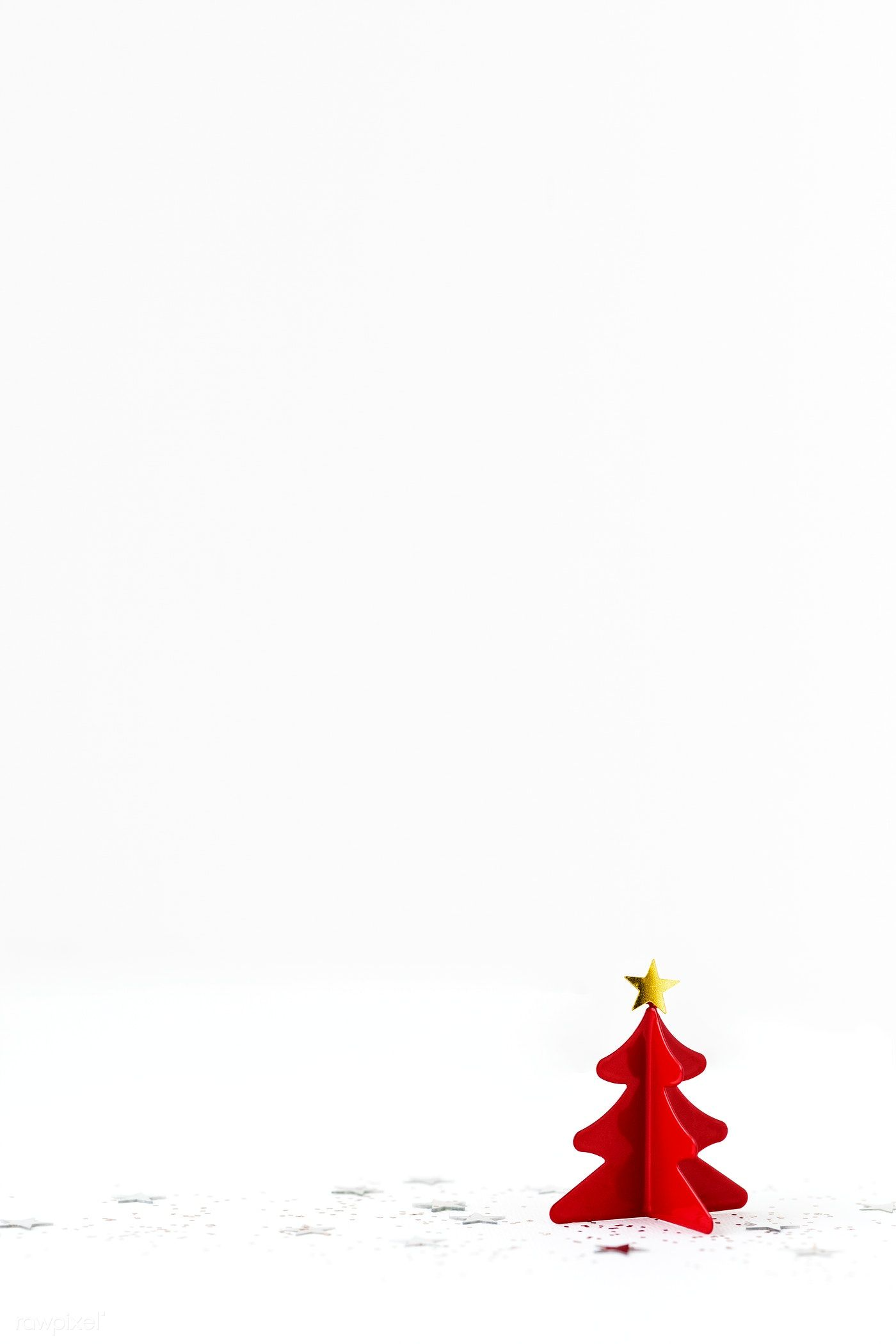 Download Premium Photo Of Festive Red Christmas Tree Decor On A White Christmas Tree Decorations Elegant Christmas Trees Red Christmas