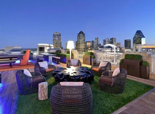 Fake Grass Carpet On Rooftop Bar Rooftop Terrace Design Rooftop Design Rooftop Garden