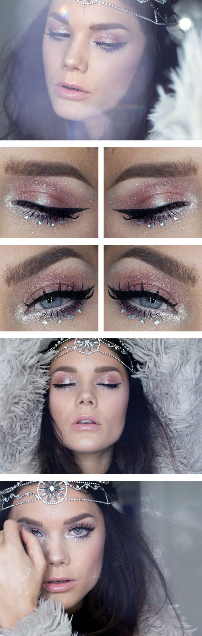 """Today's Look : """"Today we lived a Thousand Years, All we have is now"""" -Linda Hallberg ( a very soft and sparkly pink look featuring Too Faced Glamour Dust in Glampire and Blue Angel)12/14/13"""
