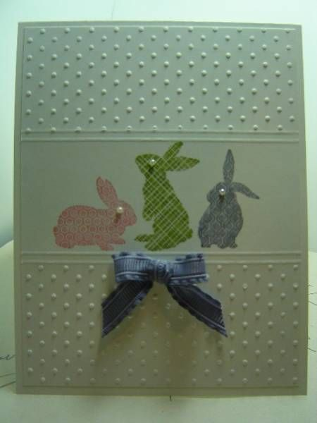 Sweet Bunnies by crazysuziestamper - Cards and Paper Crafts at Splitcoaststampers