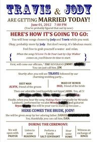 Funny Wedding Program Templates Google Search Programs For The