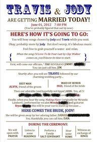 Funny Wedding Program Templates Google Search