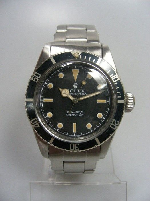 1959 Rolex Submariner 6538 James Bond Sean Connery Big Crown