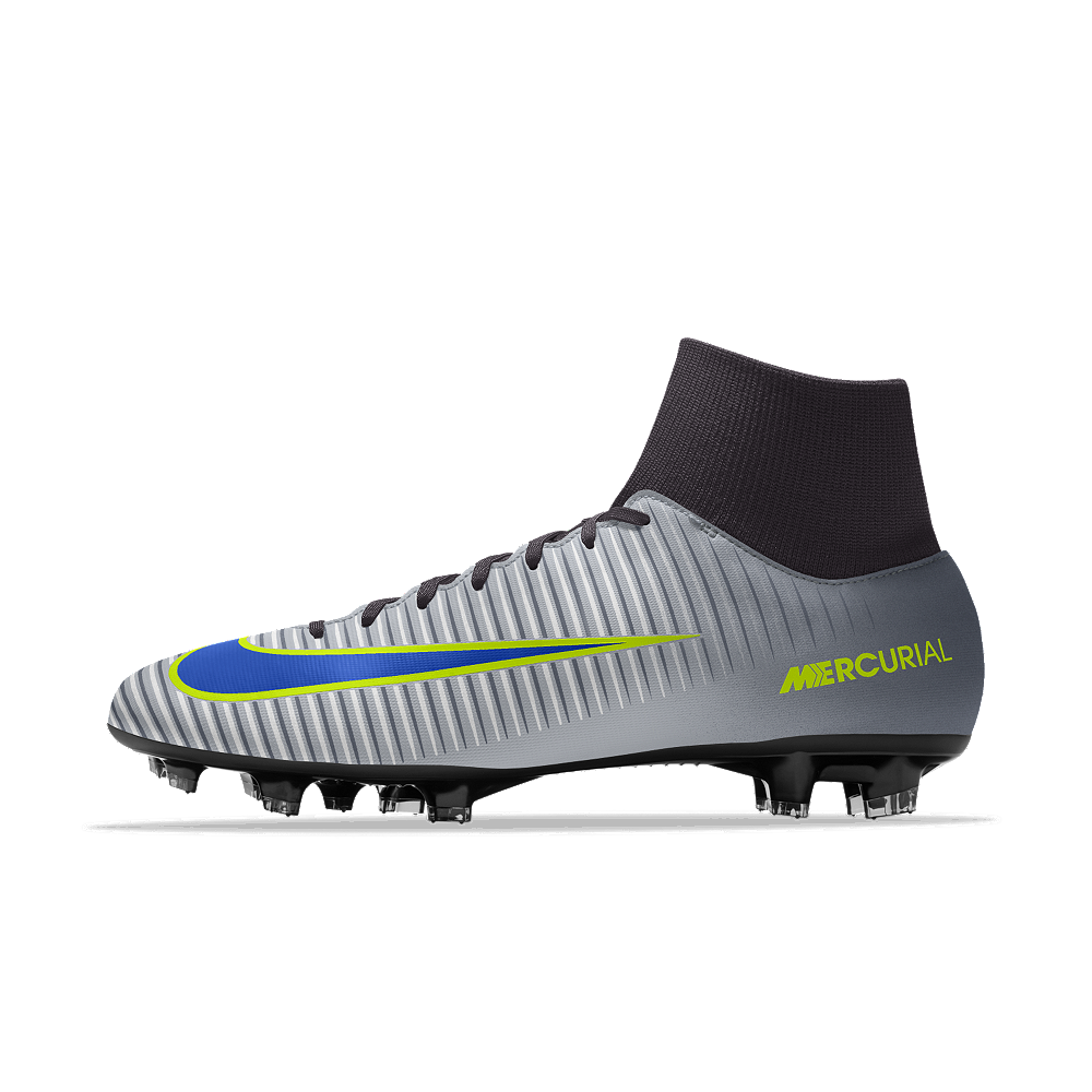 huge discount ad1c5 37397 Nike Mercurial Victory VI Dynamic Fit FG iD Men s Firm-Ground Soccer Cleats  Size 10.5 (Grey)