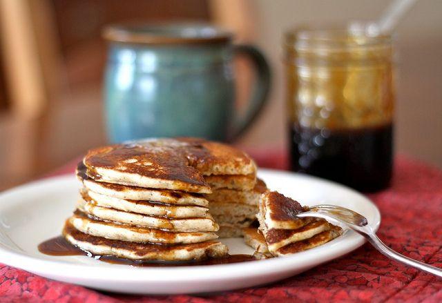 buckwheat pancakes with molasses