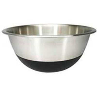 Amco Stainless Steel Mixing Bowls with Non-Skid Silicone Bottom Set of 3