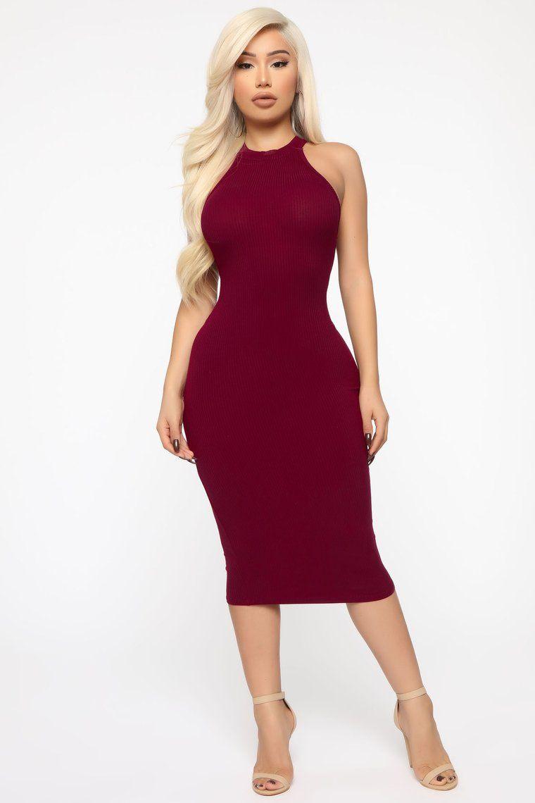 Need Space Midi Dress Wine Burgundy Bodycon Dress Dresses Mini Dress [ 1140 x 760 Pixel ]