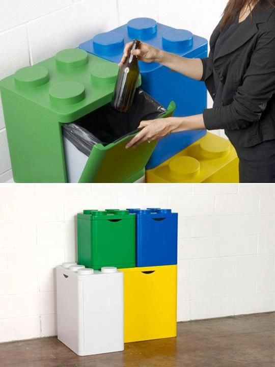 Lego Recycling Containers By Flussocreative Com Imagens