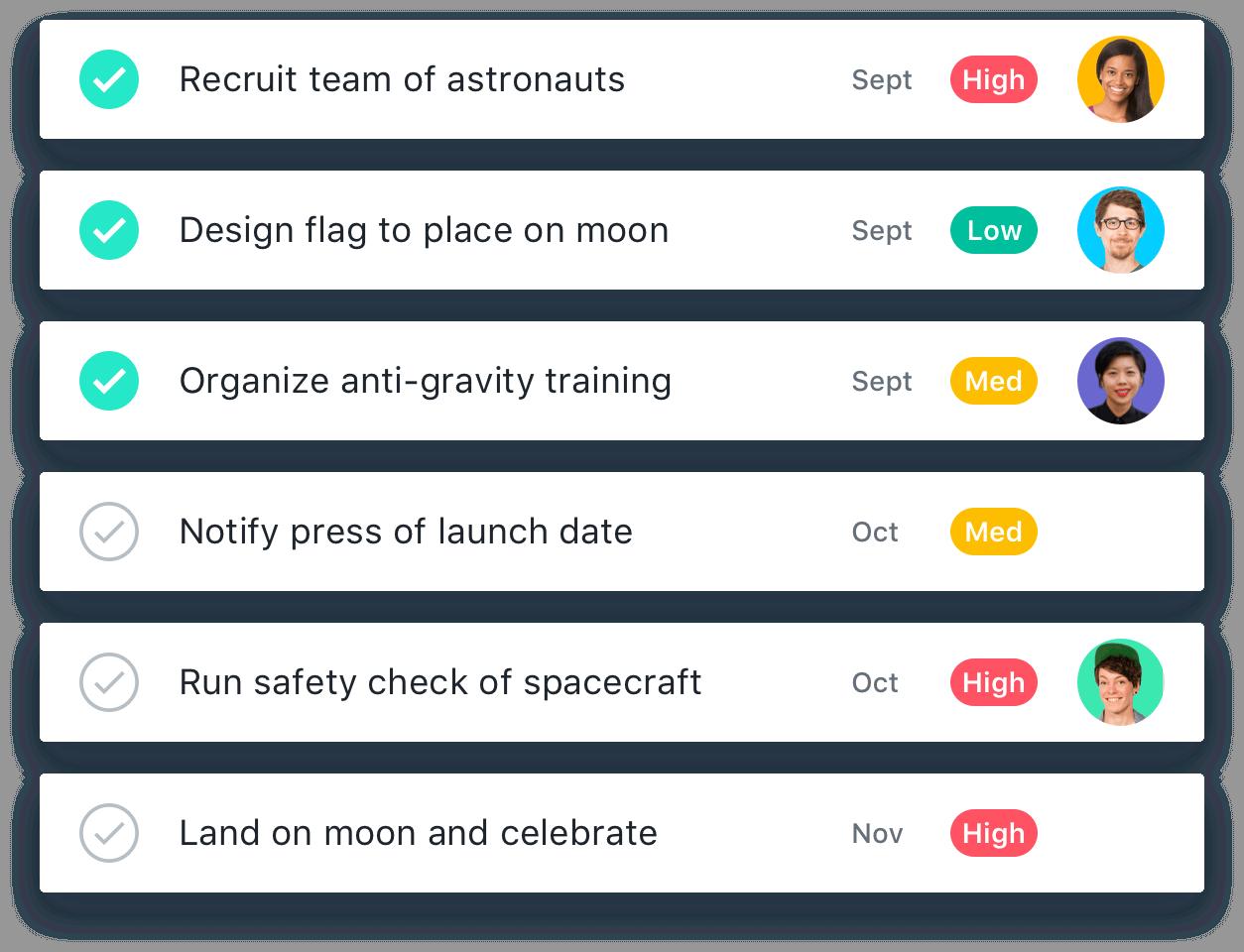 Use Asana To Track Your Team S Work Manage Projects Asana Asana Spacecraft Teamwork