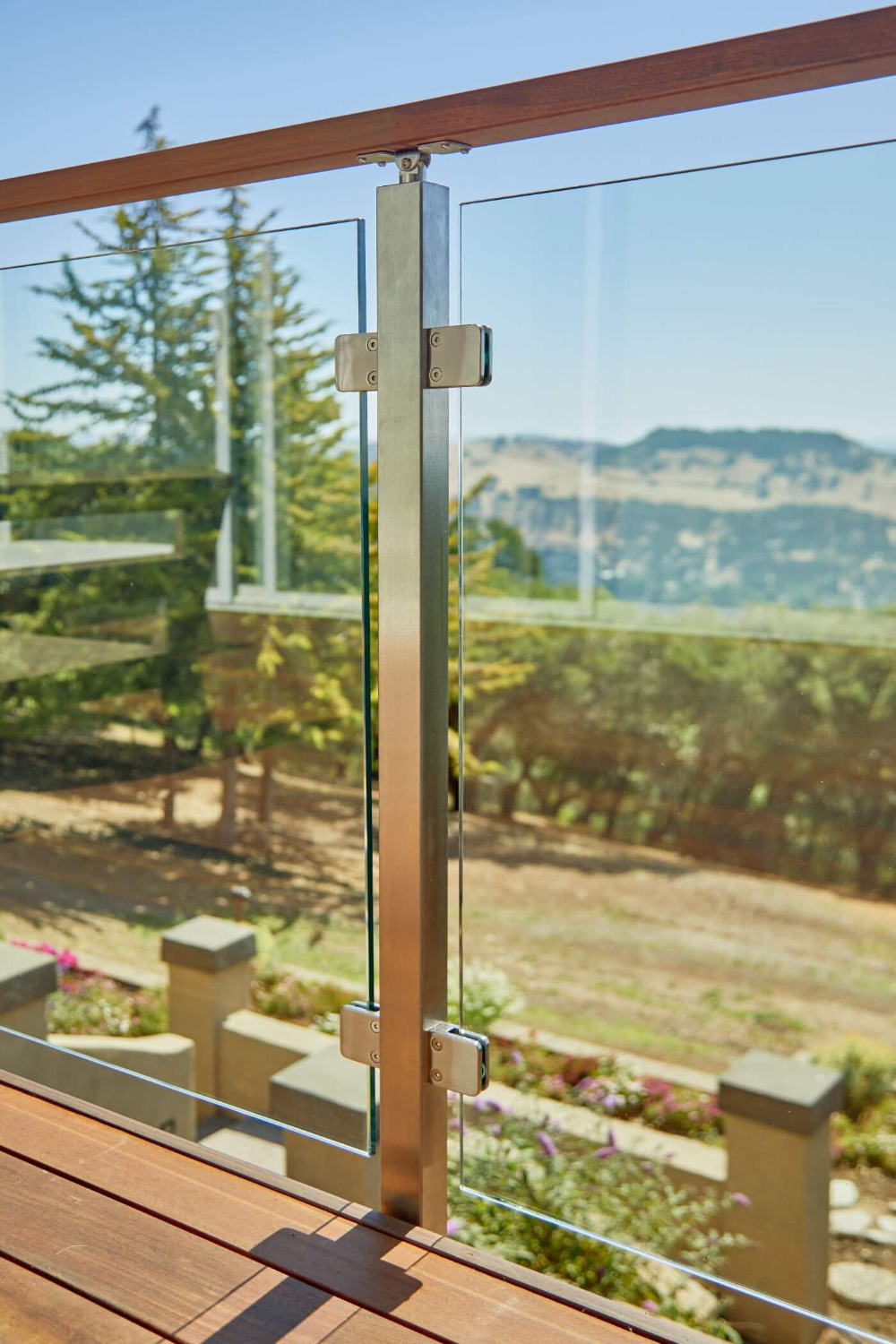 Glass Railing for a Scenic Deck (With images) | Glass ...