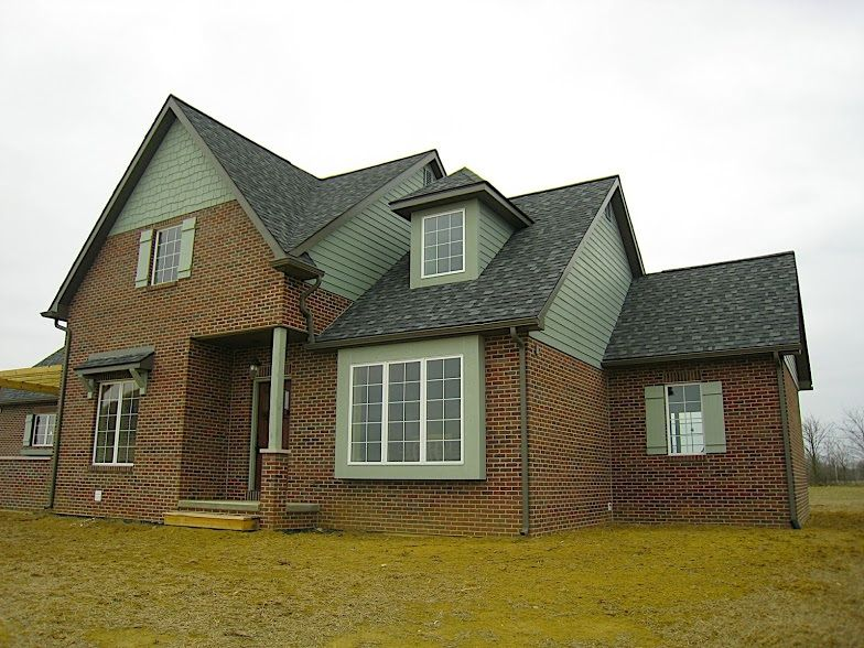 Found on google from don 39 t pinterest for Painted brick houses with siding