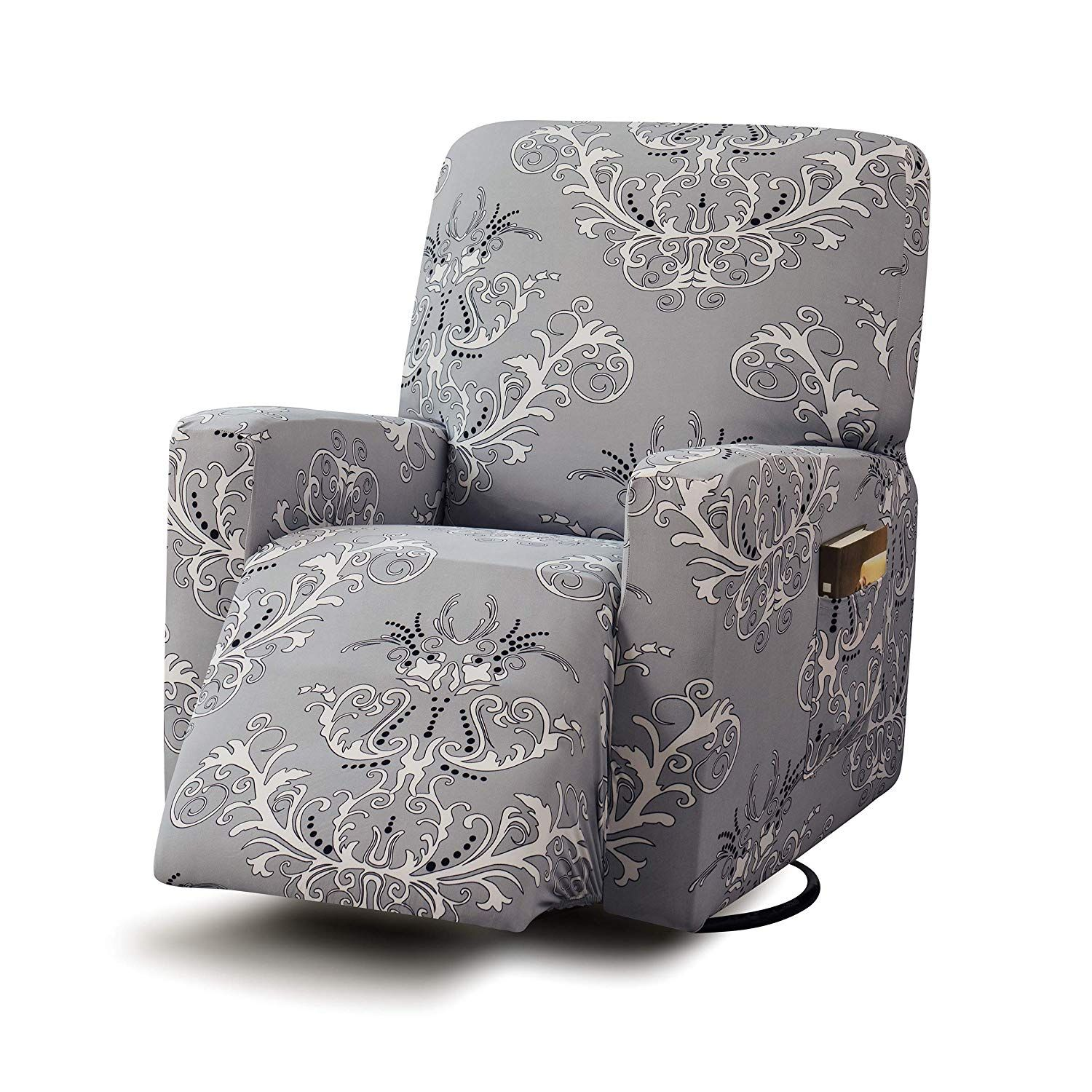 Amazon Com Tikami Stretch Printed Recliner Chair Covers Washable Sofa Slipcovers Furniture Protector With R Recliner Chair Covers Washable Sofa Recliner Chair
