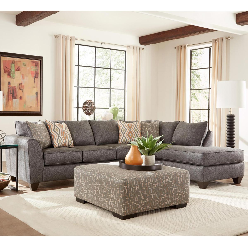 Albany Furniture 2 Piece Sectional In Crypton Graphite Nebraska Furniture Mart Albany Furniture Furniture Sectional