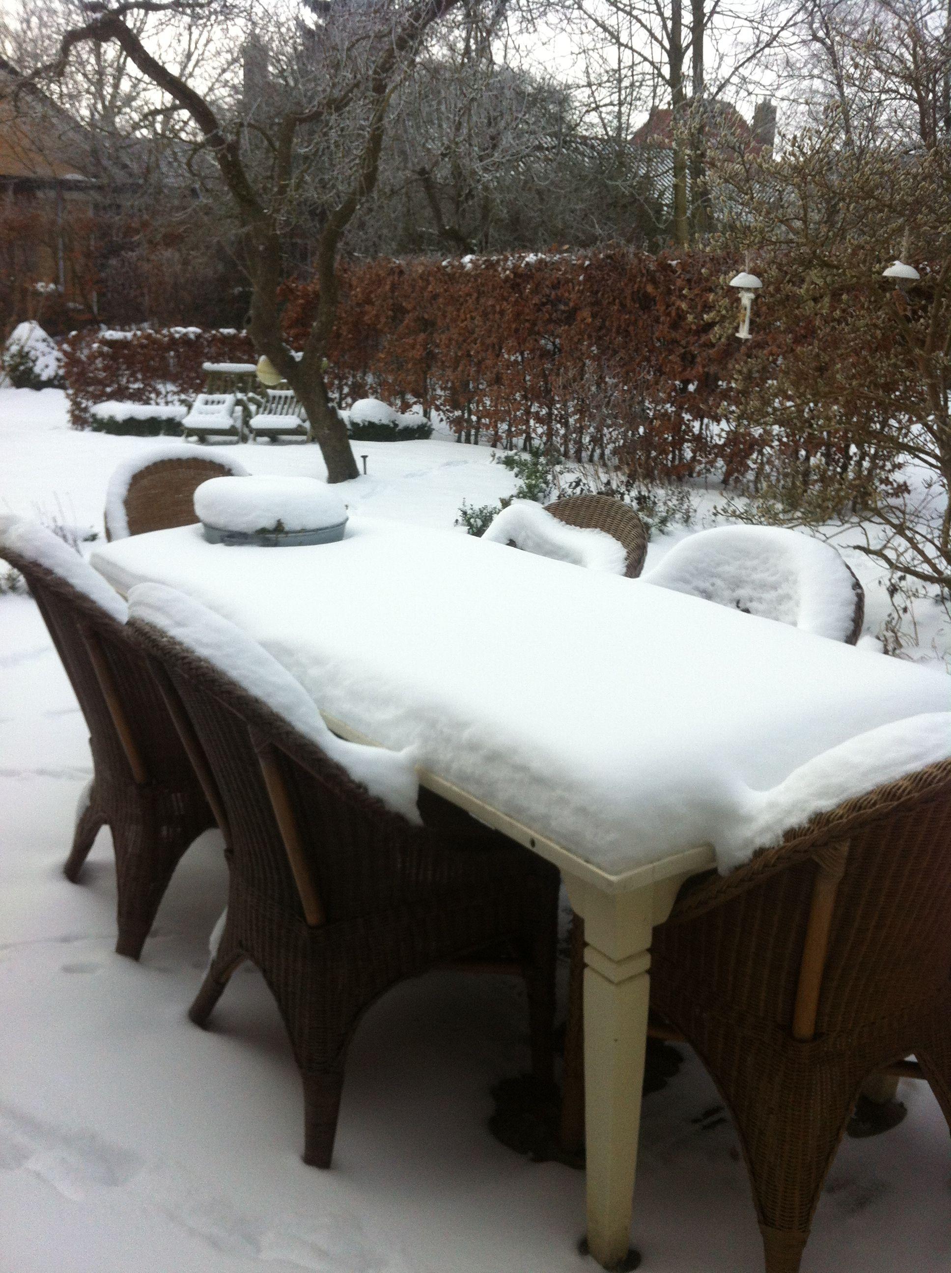 Winter op het terras