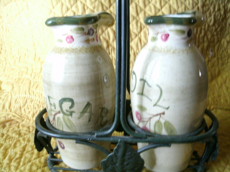 La Toscana Oil and Vinegar Bottles by Pamela Gladding in Beige and ...