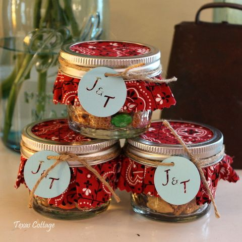 country fall western wedding guest favors