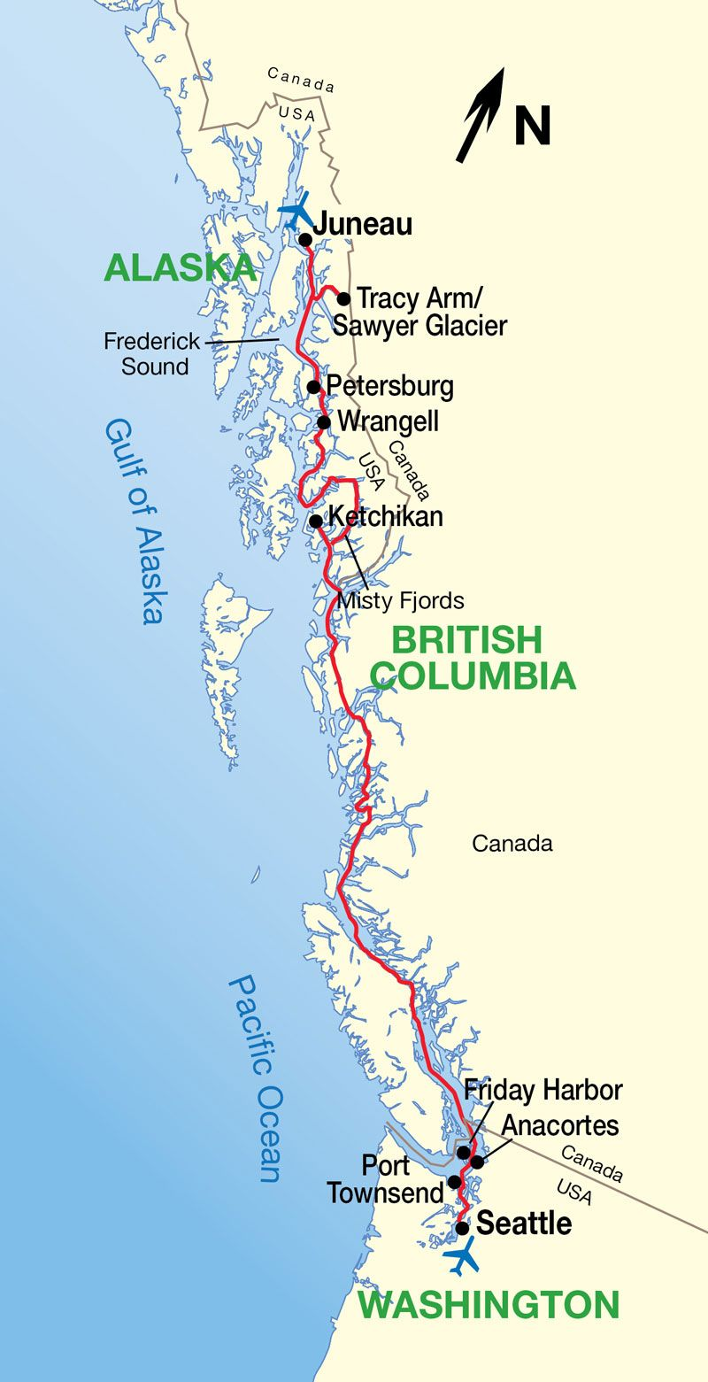 alaska inside passage cruise map more. alaska inside passage cruise map …  pinteres…