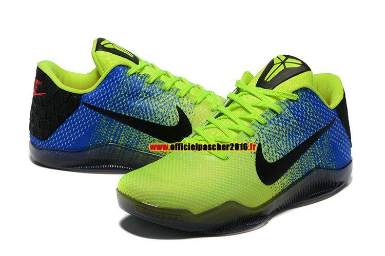 hot sale online 81226 51573 Officiel Nike Kobe 11/XI Elite Chaussures Nike Basketball Pas Cher Pour  Homme Vert - Noir - Bleu