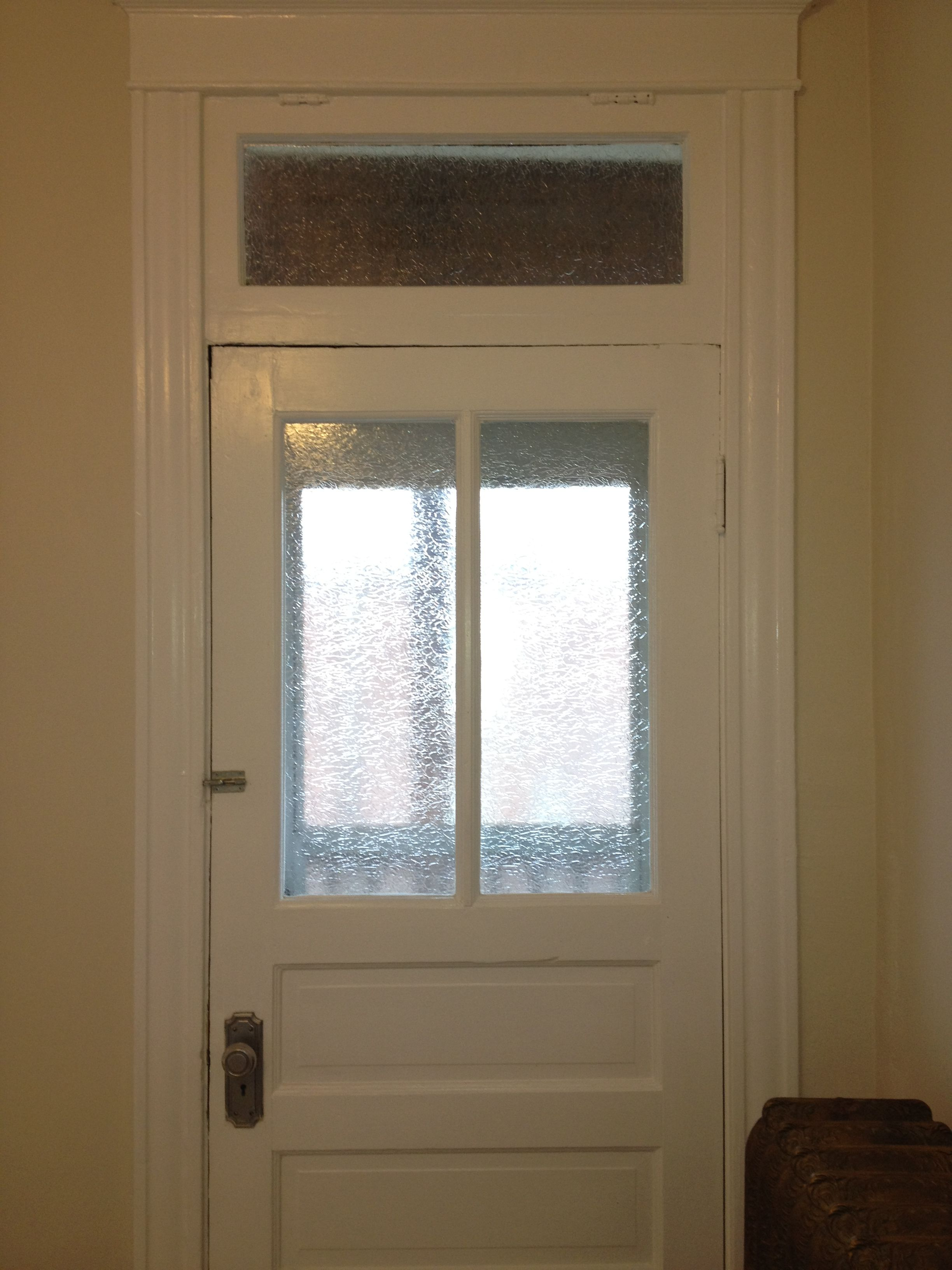 Gila Glacier Window Film On Kitchen Door Leading To Patio. Added Privacy  Without Sacrificing Light