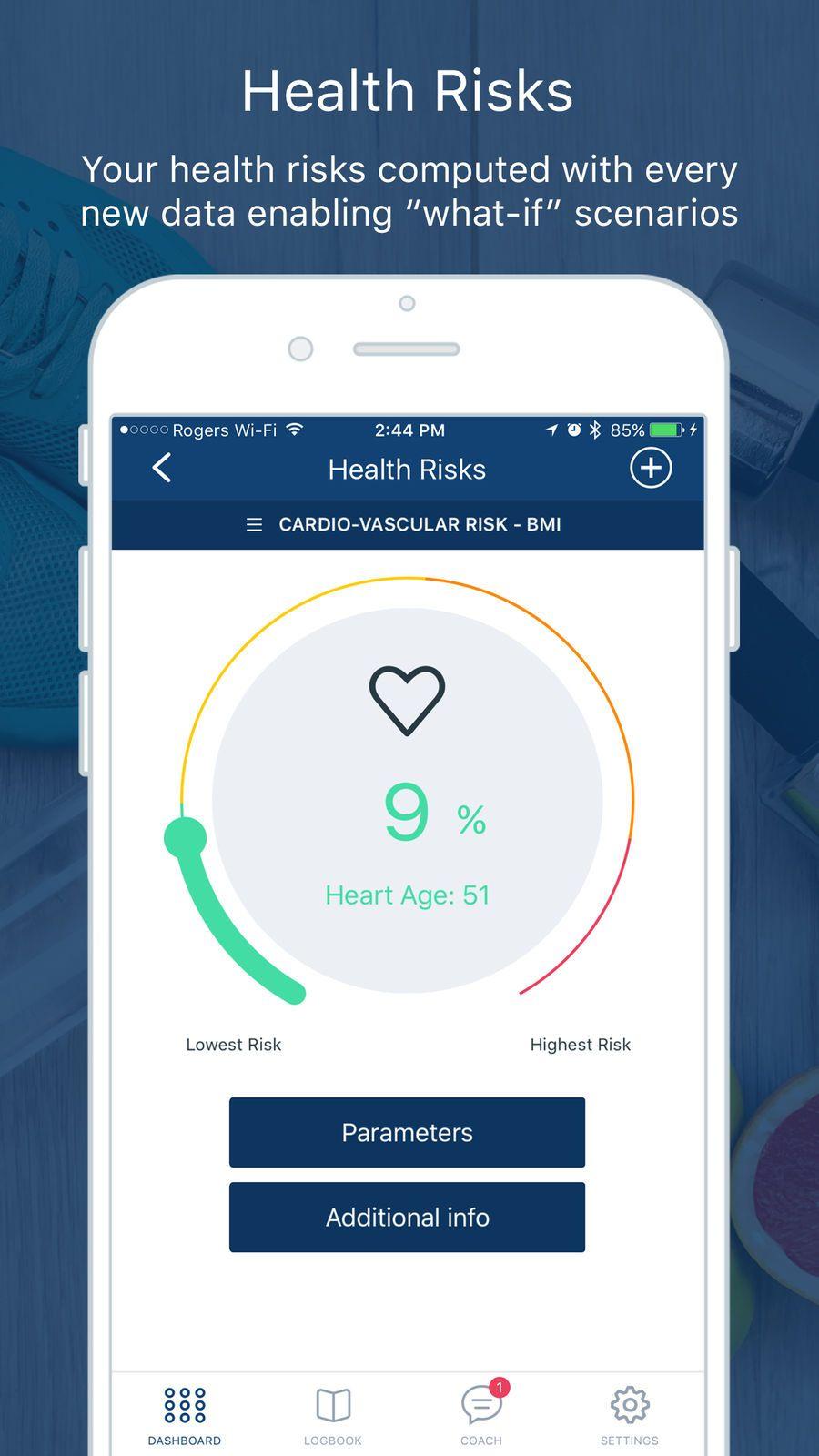 Tactio HEALTH Fitnessampappsios Health, Health risks