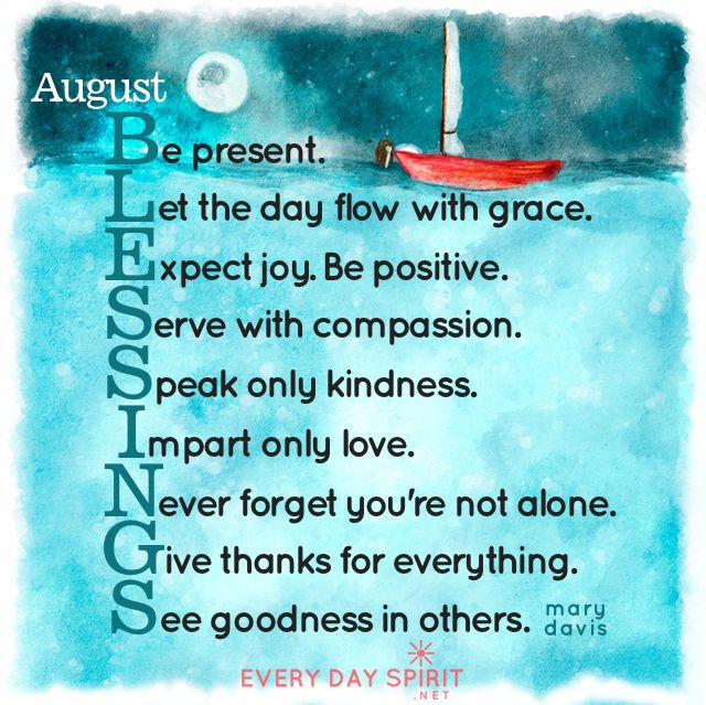August Blessings Xo Get The App Of Cute And Uplifting