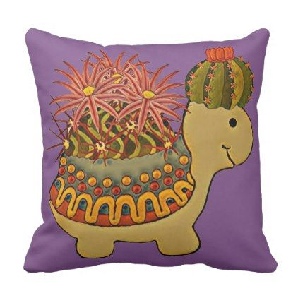 turtle\u0027s party dress throw pillow - animal gift ideas animals and