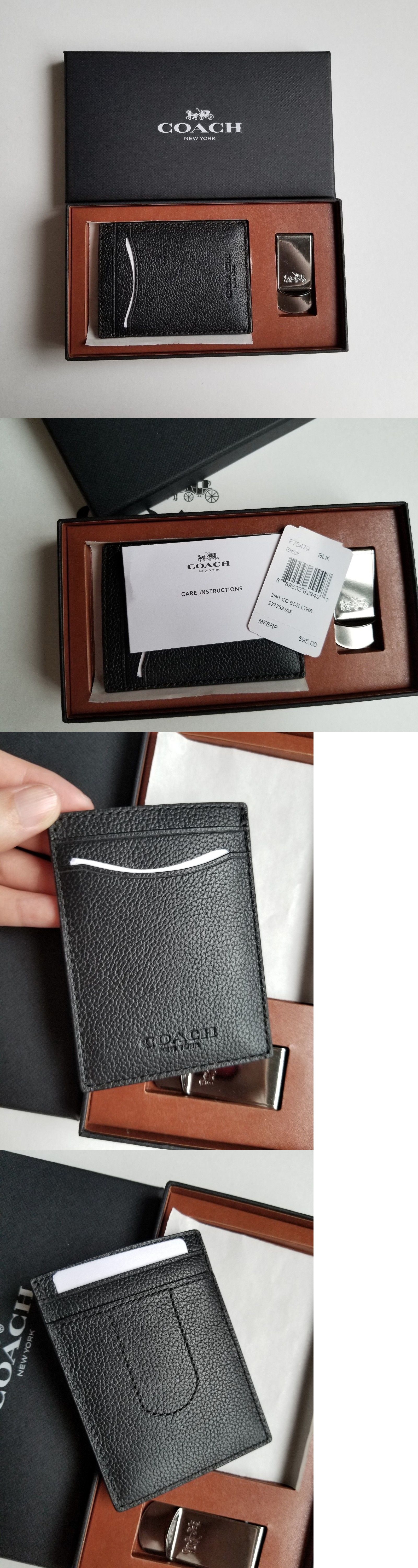 Business and credit card cases 105860 nwt coach men s 3 in1 leather business and credit card cases 105860 nwt coach men s 3 in1 leather card case reheart Image collections