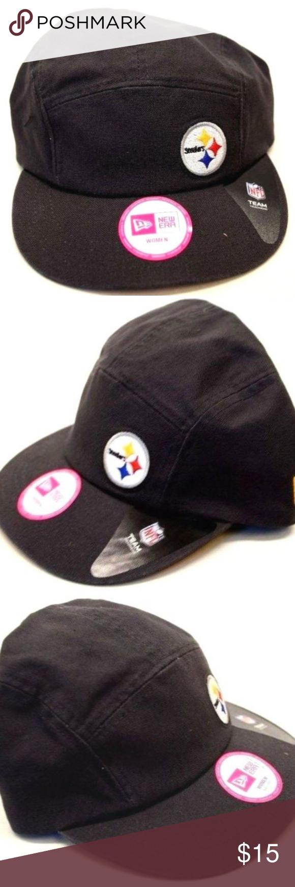 Women s New Era Pittsburgh Steelers Cadet Cap NEW!! Women s Pittsburgh  Steelers Military Strapback New Era Cap Brand  New Era Size  OSFM 100%  Authentic ... f916186e4