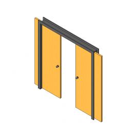 3d Revit Sliding Double Doors Cadblocksfree Revit Family Double Doors Architectural House Plans