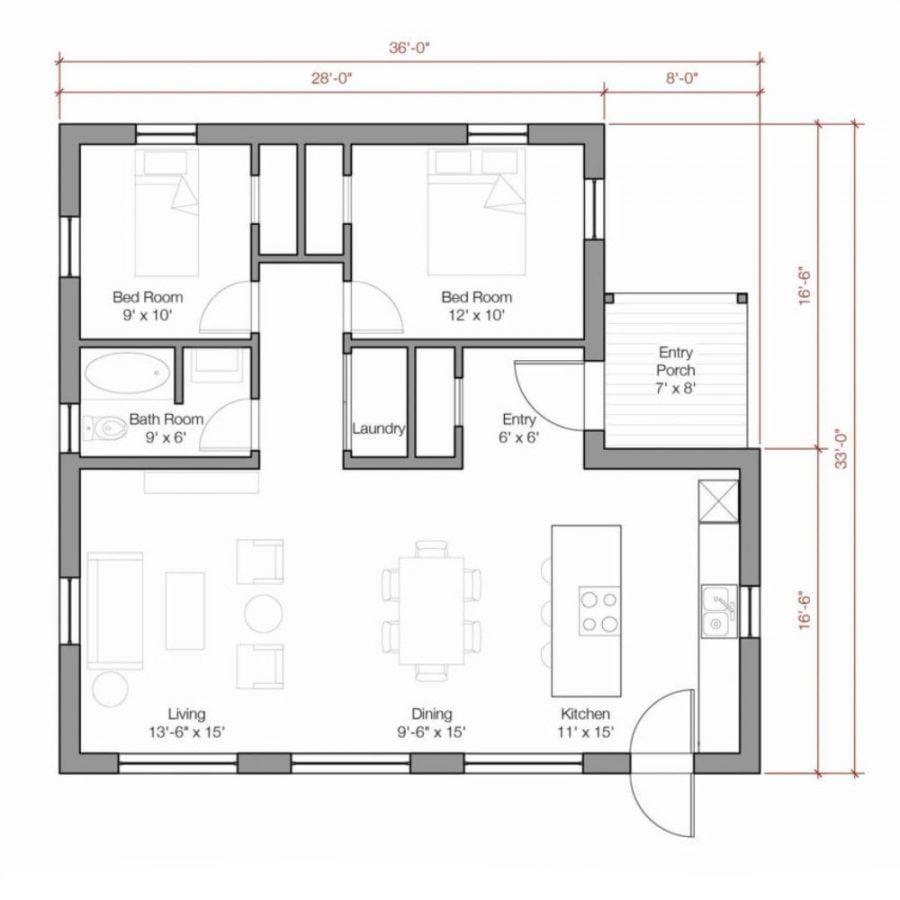 Go Logic 1000 Sq Ft Plans A B By Go Logic Prefab Home Modular Home Plans Prefab Homes Small House Plans