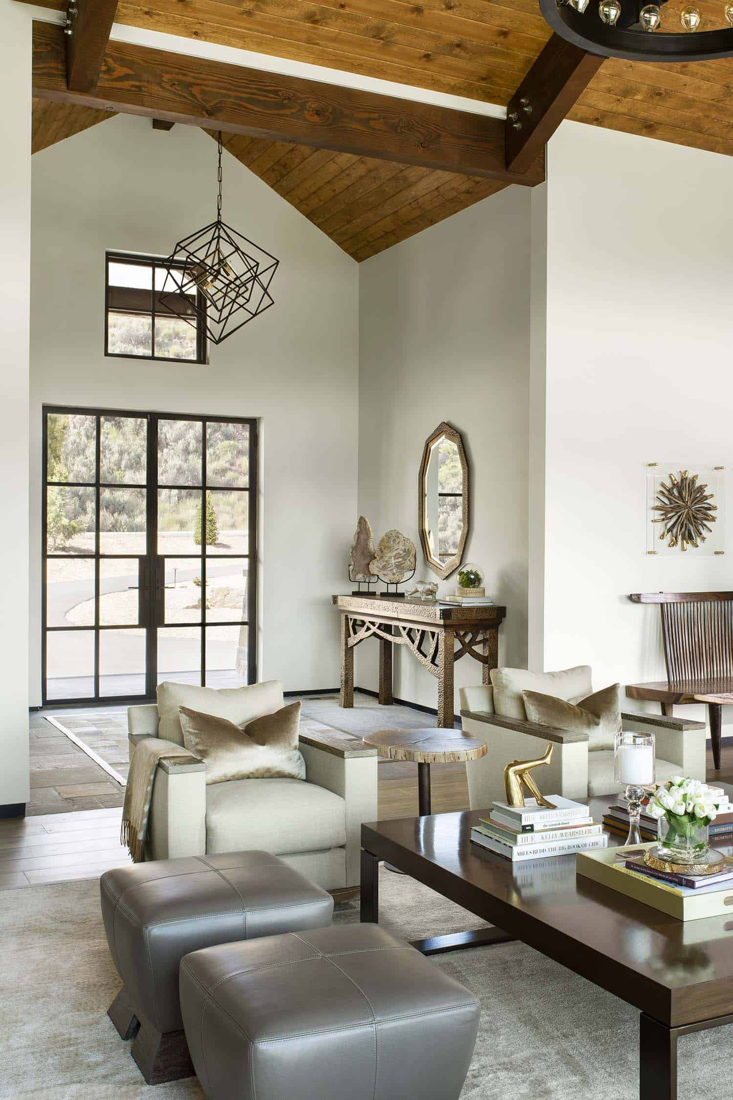 Modern Home With Rustic Touches Provides Oasis In The Colorado Rockies French Country Living Room Country Living Room French Country Rug