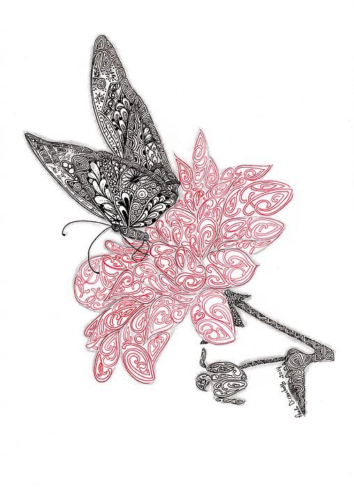 Spread Your Wings by Paula Dickerhoff - Spread Your Wings Drawing - Spread Your Wings Fine Art Prints and Posters for Sale
