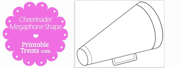 Printable Cheerleader Megaphone Shape Printable Treats Com With