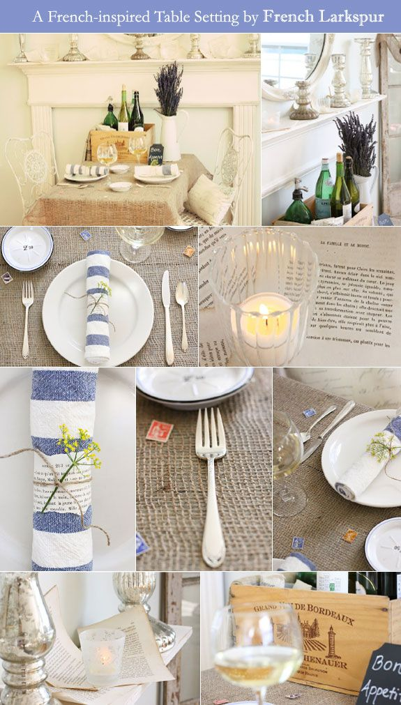 French details of table setting; a Parisian bistro theme & Fabulous Feature: A French-inspired Table Setting | Parisians ...