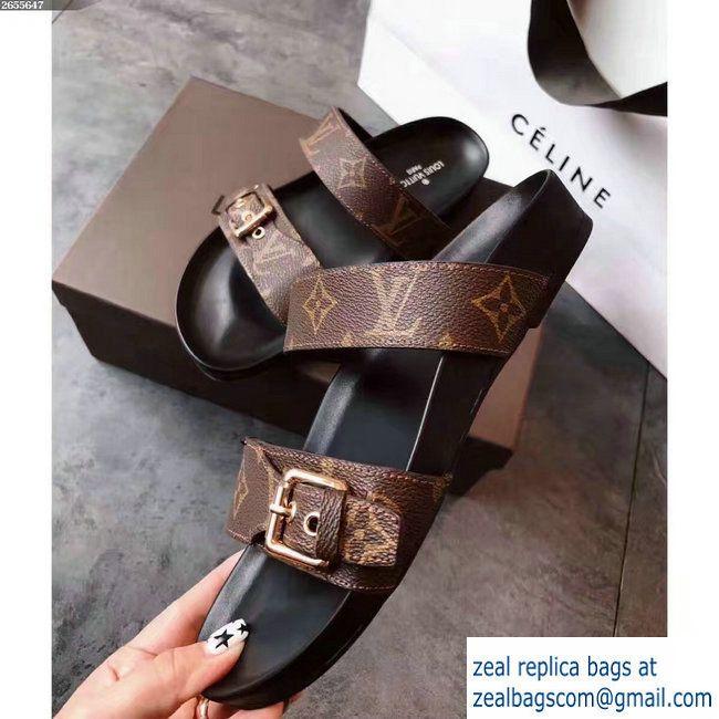 5254c57da Louis Vuitton Bom Dia Mules Sandals 1A29GB Noir 2017