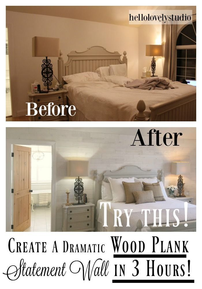 DIY StikWood Wood Plank Statement Wall in Our Bedroom is part of Ugly bedroom Makeover - DIY Wood Wall in Our Master It's all about the DIY Stikwood wall project in the master bedroom today! Stikwood Hamptons I'm thrilled to…