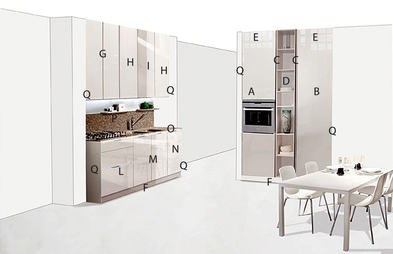 Risultati immagini per cucina 2 parti progetto CUcina In